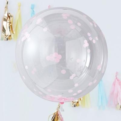Ginger Ray riesige Konfetti Ballone, 3 Stück - rosa
