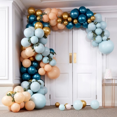 Ginger Ray Ballonbogen, Luxe Teal and Gold Chrome