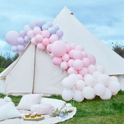 Ginger Ray Ballonbogen, Luxe Pastel Pink and Purple