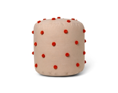 Ferm Living Dot Tufted Pouf Kamel/Rot