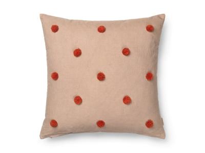 Ferm Living Dot Tufted Kissen Kamel/Rot