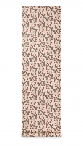 Ferm Living Wallpaper Tapete, Erdbeerfeld Rose