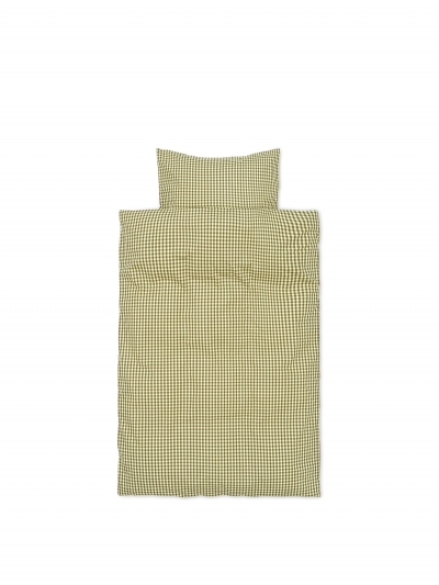 Ferm Living Bettwäsche-Set Baby (70x100 und 40x45), Zitrone/Olive
