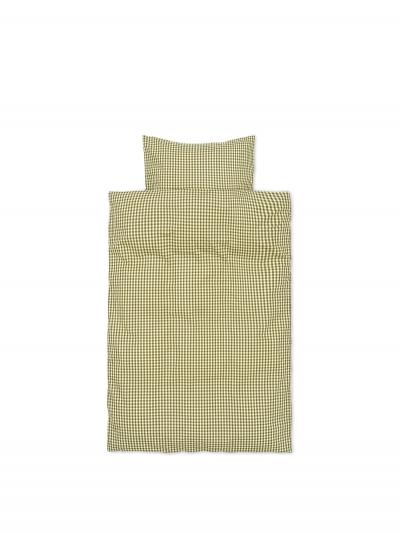 Ferm Living Bettwäsche-Set Erwachsen (140x200 und 60x63), Zitrone/Olive