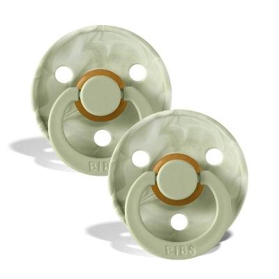 BIBS Colour Latex Schnuller (Grösse 2, 6-18 Monate), Tie Dye Ivory Sage