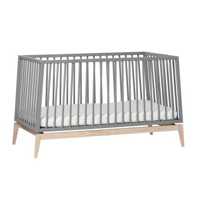Leander Luna Babybett, 140X70 cm, Grau/Eiche