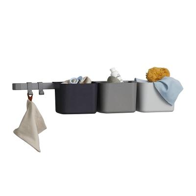 Leander Organisationselemente 3 tlg, 2 Kurze Schienen, Dusty Grey