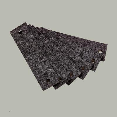 Leander Griffe Filz, 6 Stück, Grau