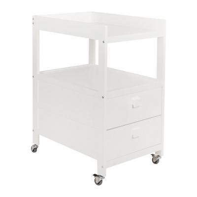 Quax Wickeltisch mit zwei Schubladen, Weiss
