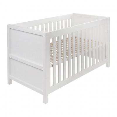Quax Stripes Babybett 140x70 cm (inkl. Umbauset), Weiss