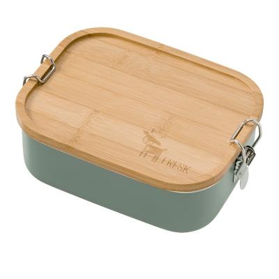 Fresk Edelstahl Lunch Box mit Holz Deckel, Reh