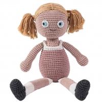 Sebra Häkel-Puppe, Rose