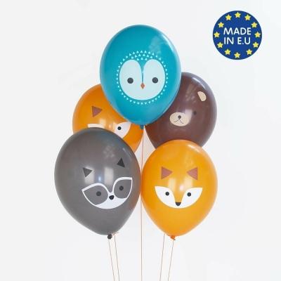 My Little Day Luftballone aus Latex, 5 Stk. - Mini Forest