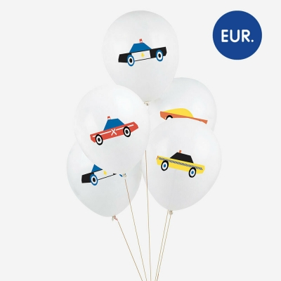 My Little Day Luftballone aus Latex, 5 Stk. - Autos