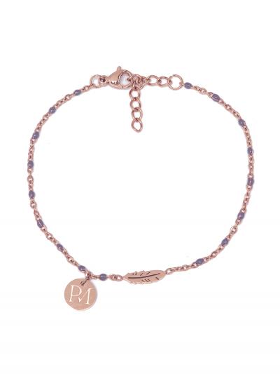 Proud MaMa MAM Armband, Rosé Federn