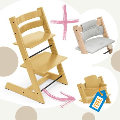 STOKKE Tripp Trapp Aktion Stuhl+Kissen = gratis Baby Set, Sunflower Yellow