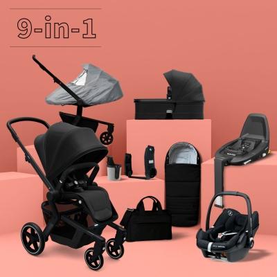 JOOLZ Hub+ Kinderwagen #3KHSet 9-in-1, Brilliant Black