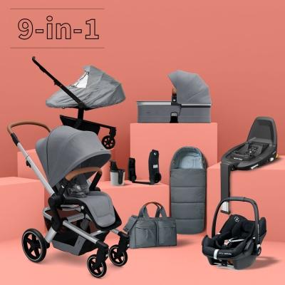 JOOLZ Hub+ Kinderwagen #3KHSet 9-in-1, Gorgeous Grey