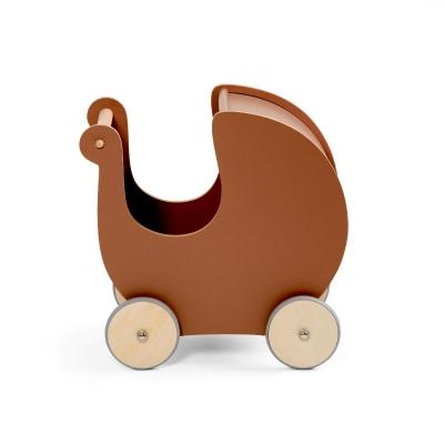 Sebra Puppenwagen aus Holz, Dark Amber