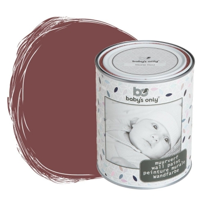 Babys only Wandfarbe, Stone Red - 1 Liter