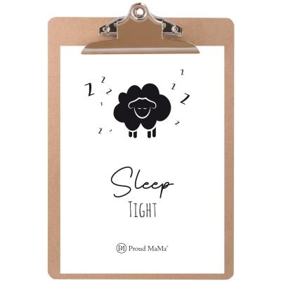 Proud Mama Karte mit Klemmbrett, Sleep Tight