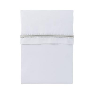 Baby Bettlaken gestricktes Band, Wollweiß/Weiß