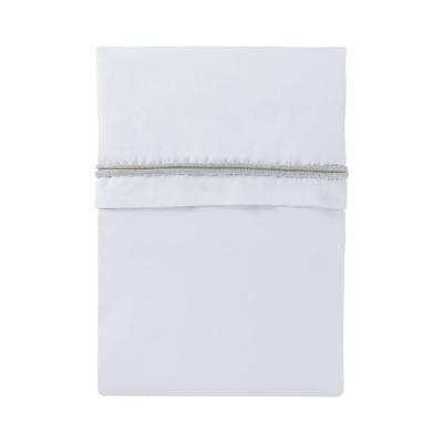 Baby Bettlaken gestricktes Band, Silbergrau/Weiß