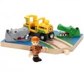 BRIO Aktionsschiene Nilpferd und Krokodil