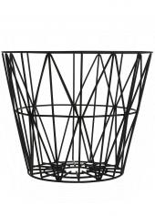 Ferm Living Wire Basket - Schwarz, klein