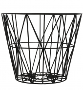 Ferm Living Wire Basket - Schwarz, gross
