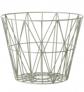 Ferm Living Wire Basket - Dusty green, gross