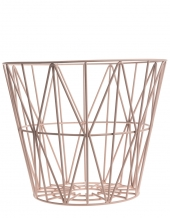 Ferm Living Wire Basket - Rose, mittel