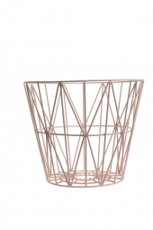 Ferm Living Wire Basket - Rose, klein