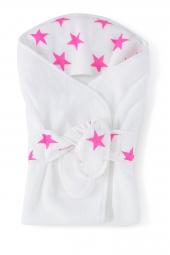 Aden Anais Classic Baby Bath Wrap, fluro pink