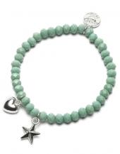 Proud MaMa Armband, Stern / Herz Grün