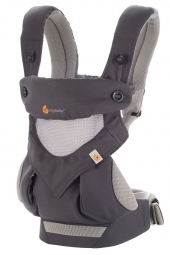 Ergobaby Babytrage 360° 4-Positionen, Cool Air Mesh Carbon / Grey