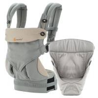 Ergobaby Babytrage 360° 4-Positionen Bundle, Grau (von-Geburt-an Paket)