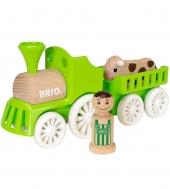 BRIO Lok mit Kuh-Anhänger