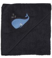 Pippi Kapuzenbadetuch, dunkelblau