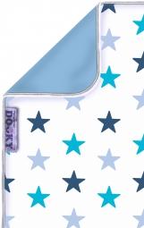 Dooky Kinderwagen-Decke, Blue Stars/ Baby Blue
