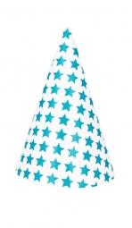 My Little Day Spitzhut - Sterne / Blau, 8 Stk.