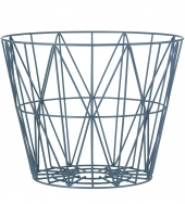 Ferm Living Wire Basket - Blau, mittel