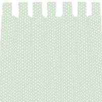 Sugarapple Vorhang 2er Pack, Mint / Sterne Weiss