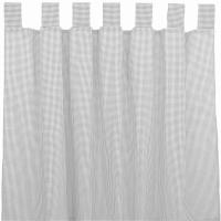 Sugarapple Vorhang 2er Pack, Karo Grau