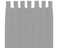 Sugarapple Vorhang 2er Pack, Grau / Sterne Weiss