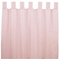 Sugarapple Vorhang 2er Pack, Sterne Rot