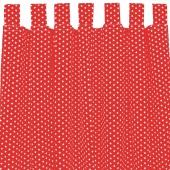 Sugarapple Vorhang 2er Pack, Rot / Sterne Weiss