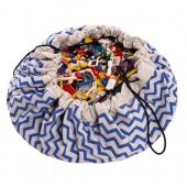 Play&Go Spielzeugtasche, Chevron Blau