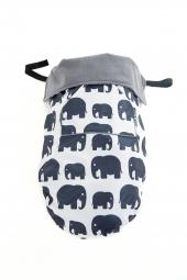 BundleBean Go! Kinderwagendecke/ Babytragedecke, Elephant