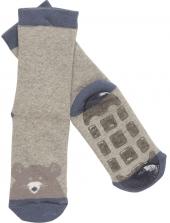 MALA Babysocken mit Anti-Rutsch-Sohle (ABS), Maus, grau
